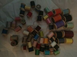 Lot Of 54 Vintage Thread Wood Spools $19.90