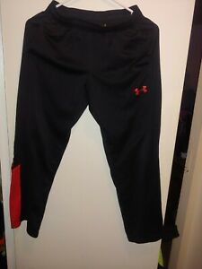 Boys UNDER ARMOUR Loose Jogger Pants Size Youth Medium Black amp; Red NWOT   $16.49