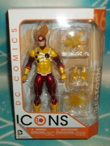 DC DIRECT COLLECTIBLES ICONS SERIES RON RAYMOND FIRESTORM JUSTICE LEAGUE FIGURE $29.99