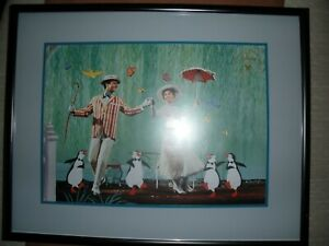Disney lithograph Mary Poppins framed 1997 Exclusive Commemorative $22.99