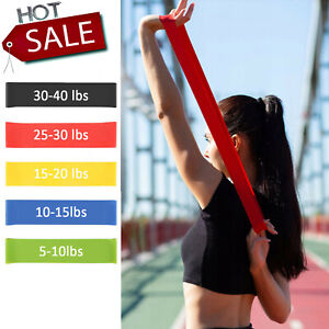 Workout Resistance Bands Loop Set CrossFit Fitness Yoga Booty Leg Exercise Band $3.99