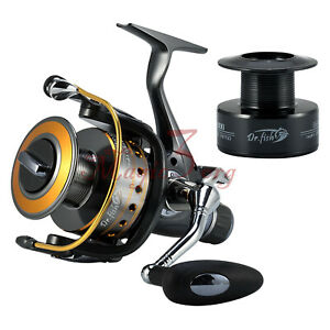 Spinning Saltwater Surf Bass Fishing Reels Spare Spools Up to 35LB Max Drag 11BB