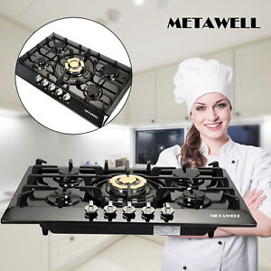 TOP 30quot; Stainless Steel 5 Burners Built In Stove Cooktop Gas NG LPG Hob Cooker $249.99