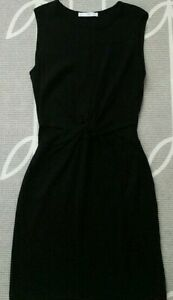 Casual Front Knot Black Dress MNG size 2 $12.00