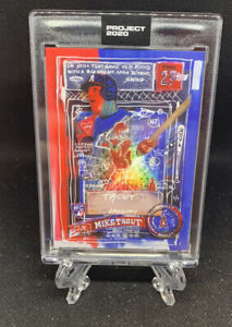 Topps PROJECT 2020 Card 325 2011 Mike Trout by Gregory Siff W Box In Hand