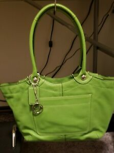 Lime Green Leather Coach Purse