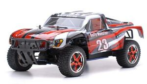 1 10 RC Rally Monster Nitro Gas RTR Off Road Short Course Truck 4WD Stripe Red $264.95