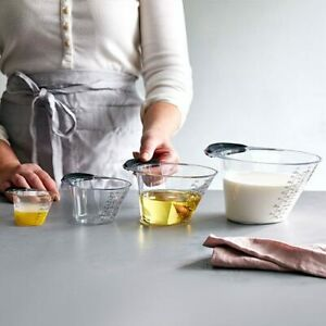 PAMPERED CHEF EASY READ MEASURING CUP SET #100193 Free Shipping $27.39