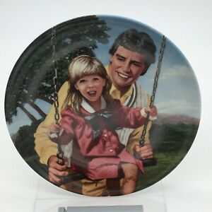 E. Knowles Betsey Bradley Swing Time A Fathers Love Series Collectible Plate $8.49