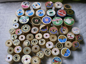 used vintage thread spools $20.00