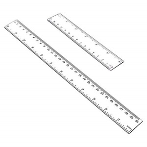 Allinone Plastic Ruler Flexible Ruler with inches and metric Measuring Tool 12quot; $7.91