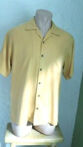 Tommy Bahama Casual Front Button Short Sleeve Shirt Mens Size Sm Deep Gold $9.99