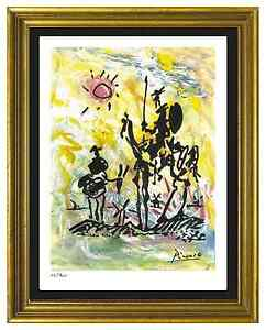 Pablo Picasso Signed Hand Numbered Ltd Ed quot;Don Quixotequot; Litho Print unframed $129.99