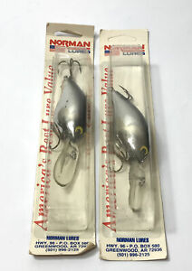 2 Norman Lures DD14 Crankbaits Deep Diver Silver Fishing Lures