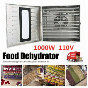 10 Layer Large Capacity Stainless 1000W Food Fruit Dryer Vegetable Dehydration