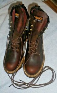 CAROLINA Boots BROWN LEATHER WORK Mens sz 8 NEW