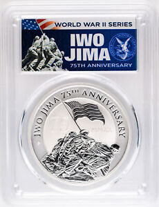 2020 $1 Iwo Jima 75th Anniversary 1oz Silver Coin PCGS MS70 First Day of Issue $65.00