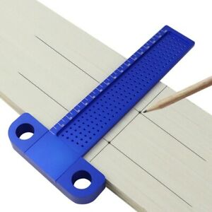 Woodworking T Ruler 160mm Aluminum Alloy Marking Gauge Hole Positioning Crossed $44.99