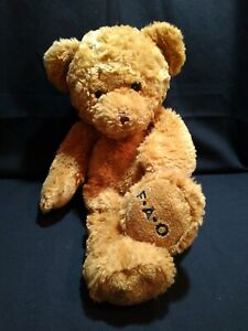 FAO Schwarz Bear Plush Honey Brown Soft 16 in $26.99