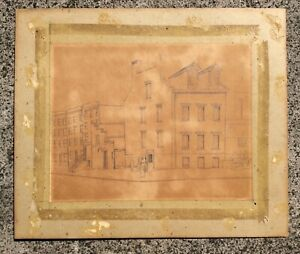 Rare Original Pencil Drawing By Elaine de Kooning 1919 1989 Important Early Work $200.00