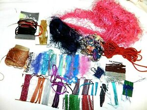 Crafts Sewing Large Lot Assorted Fibers Cording Bakers Twine Great Variety $1.99