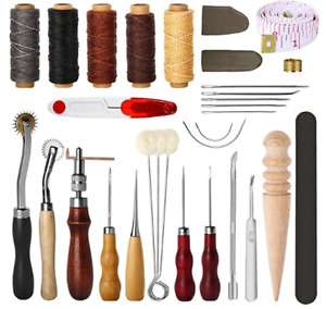 31Pcs Curved Hand Sewing Needles Kit Leather Sewing Tools DIY Hand Stitching $19.88