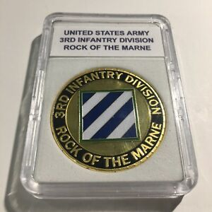 3RD Infantry Division US Army Challenge Coin Rock of the Marne USA A45 $14.95
