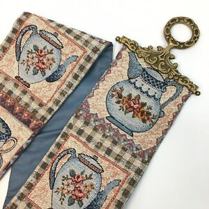 Tapestry Wall Banner Sash Kitchen 42 Cup Saucer Pitcher