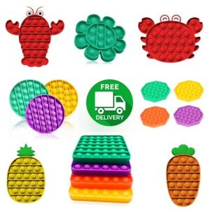 Push Bubble Pop it Sensory Fidget Toy Autism Anxiety Stress Relief Ships From US $6.99