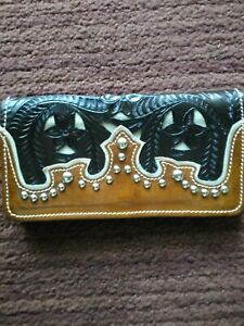 American West Leather Wallet New $25.00