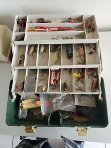 Vintage Tackle Box With Vintage Lures