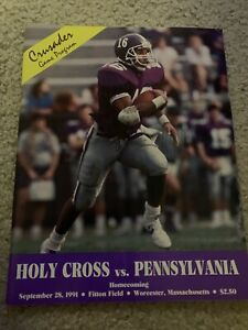 1991 Holy Cross Pennsylvania College Football Program Homecoming $2.99