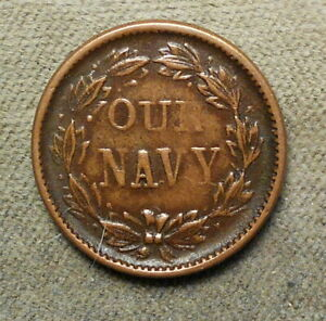 Civil War Patriotic 41 337 Our Navy R 2 copper 19mm vf $18.00