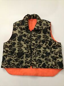 Winchester Hunting Vest XXL Camo Orange Reversible