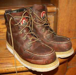 Vtg Red Wing Irish Setter Ashby 83606 Safety Toe Leather Work Boots Men#x27;s 8 D
