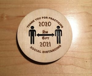 social distance ornament with custom holder covid2021 laser engraved