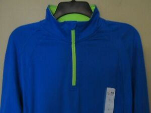 NEW Champion Duo Dry Women 1 4 Zip Long Sleeve Athletic Pullover BRIGHT BLUE $12.99