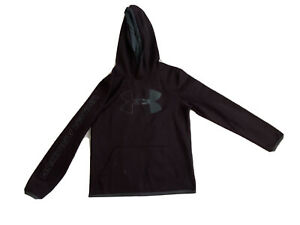 Under Armour Hoodie Boys Size Large YLG JG G Loose Fit Cold Gear Gray Purple EUC $12.95