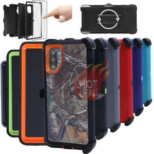 For Samsung Galaxy Note10 Note 10 Plus Rugged Armed Shockproof With Clip Case