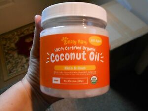 Zesty Paws Certified Organic Coconut Oil For Dogs For Skin amp; Coat Expires 08 22