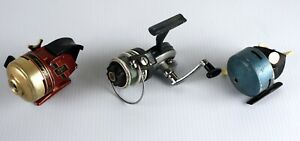 Lot of 3 Vintage Fishing Reels Shakespeare SKP 9 Herters 1280 Ocean City 376