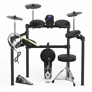 Electric Drum Set Electronic Kit w 5 Drums 3 Cymbals Drum Stick Solid Support $344.99
