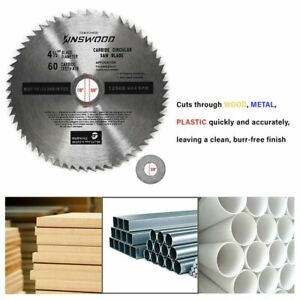 Circular Saw Blade Universal Fit 4quot; 1 2quot; 60T For Metal Aluminum SteelKinswood $8.45