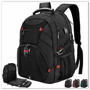 Extra Large Laptop Backpack 17 Inch Travel Waterproof Backpacks Anti Theft Co...