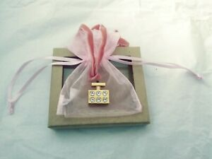 CUTE MICHAEL KORS PINK VELVET NECKLACE WITH PERFUME BOTTLE CHARM 11 $24.99