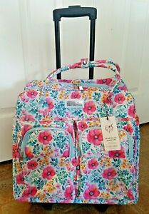 Everything Mary Deluxe Portable Rolling Sewing Machine Case Pink Floral Cart $95.99