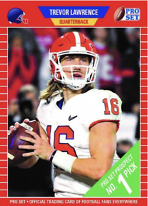 PRESALE 2021 LEAF PRO SET TREVOR LAWRENCE ROOKIE CARD XRC FIRST LICENSED RC QTY $19.99