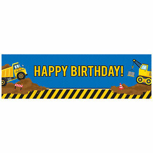 Construction Party Decorations Vinyl Birthday Banner 18quot;x61quot;