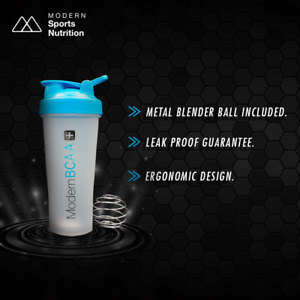 Protein Shaker Bottle with Metal Mixing Ball Modern BCAA® $5.98