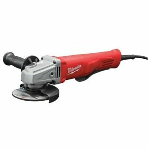 Milwaukee 6142 30 11 Amp Corded 4 1 2quot; Small Angle Grinder W Lock On Paddle $103.95